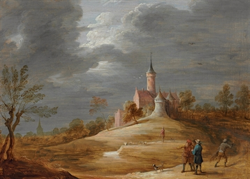 Figures in a landscape with a