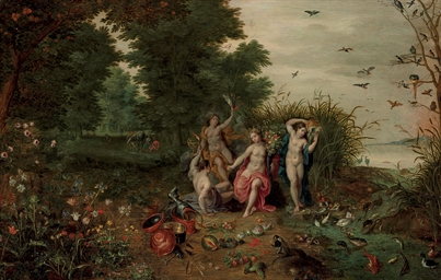 An allegory of the Four Elemen