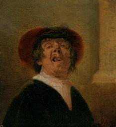 A man scowling