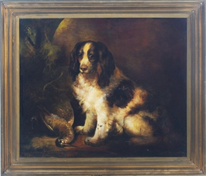 A Springer Spaniel with game