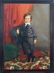 Portrait of a boy, standing by