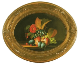 Still life of fruits, flowers