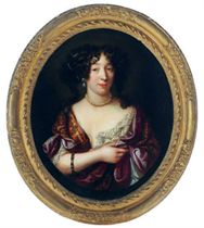 Portrait of Louise de Kerouaille, Duchess of Portsmouth (1649-1734), bust-length, in a painted oval