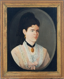 Portrait of a lady wearing a l