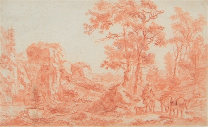 A wooded landscape with a trav