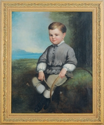 Portrait of a boy with his hoo