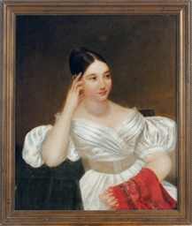 Portrait of a young lady in a