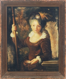 Lady holding a staff and shell