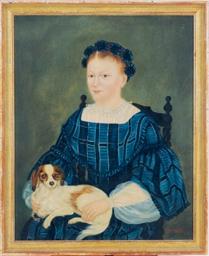 Portrait of a lady holding a K