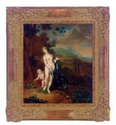 Cupid and Venus in a landscape