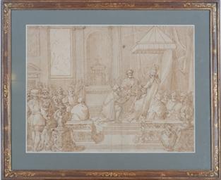 Pope Paul III restoring the Du
