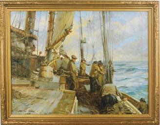 Fishermen on deck