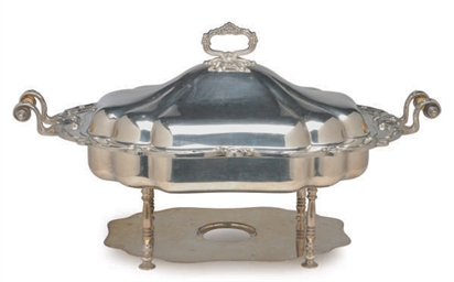 A LARGE SILVER-PLATED ENTREE D