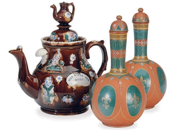 A BARGEWARE 'TAVERN' POT AND A