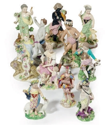 A SET OF FOUR ENGLISH PORCELAI