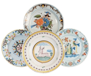A GROUP OF FOUR DUTCH DELFT PO