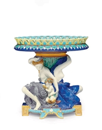 AN ENGLISH MAJOLICA FIGURAL CE