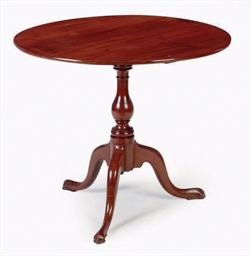 AN ENGLISH MAHOGANY TILT-TOP T