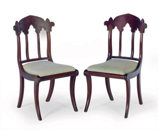A SET OF FOUR GOTHIC REVIVAL M