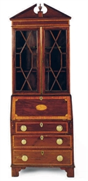 AN ENGLISH MAHOGANY AND SATINW