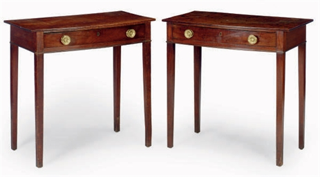 A PAIR OF GEORGE III MAHOGNY B