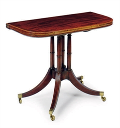 A REGENCY MAHOGANY FOLD-TOP GA