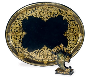 A VICTORIAN GILT-DECORATED PAP