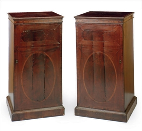 A PAIR OF ENGLISH MAHOGANY CAB