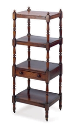 AN AMERICAN MAHOGANY FOUR-TIER
