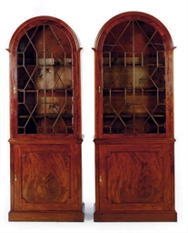 A PAIR OF ENGLISH MAHOGANY DOM