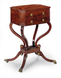 AN ENGLISH MAHOGANY OCTAGONAL