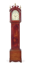 AN ENGLISH MAHOGANY LONGCASE C