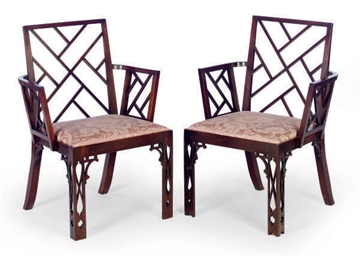 A PAIR OF ENGLISH MAHOGANY COC