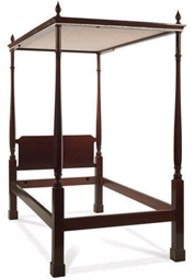 A PAIR OF MAHOGANY FOUR-POSTER