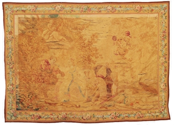 A FRENCH SCENIC TAPESTRY,