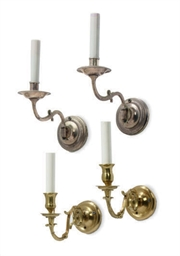 TWO PAIRS OF SINGLE WALL-LIGHT