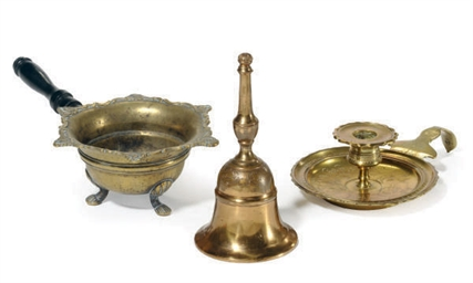 A GROUP OF FRENCH BRASS TABLE