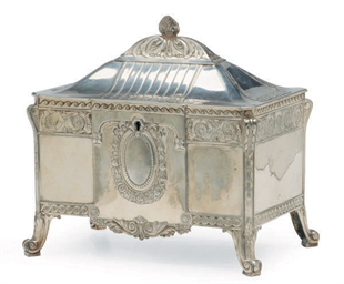 A GERMAN SILVER-PLATED TABLE B