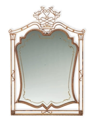 A FRENCH GILT-METAL MIRROR,