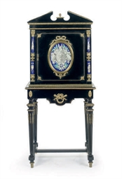 A GILT-BRONZE MOUNTED EBONIZED