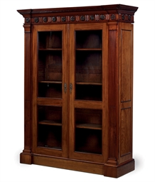 A DUTCH MAHOGANY BIBLIOTHEQUE