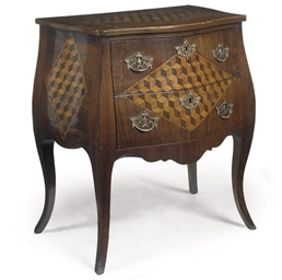 A DUTCH ROSEWOOD AND FRUITWOOD