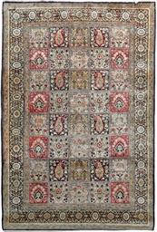 A fine silk Qum rug of Garden