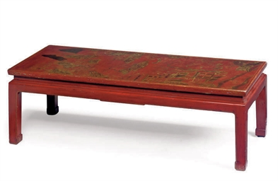 A CHINESE SCARLET AND GILT-LAC