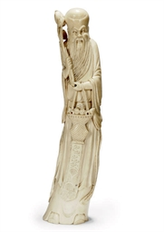 A CHINESE IVORY MODEL OF SHOUL