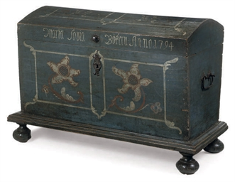 A NORTH EUROPEAN PAINTED CHEST