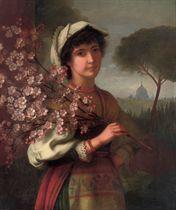 AN ITALIAN GIRL WITH CHERRY BLOSSOM
