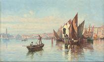 Fishing vessels in the Venetian lagoon