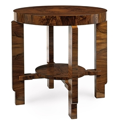A FRENCH ART-DECO WALNUT CENTR
