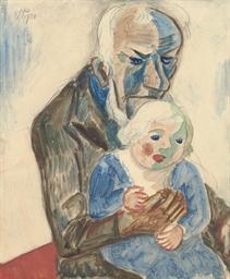 Grossvater mit Enkel